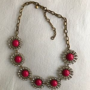 Pink and Gold Jcrew Starburst Necklace