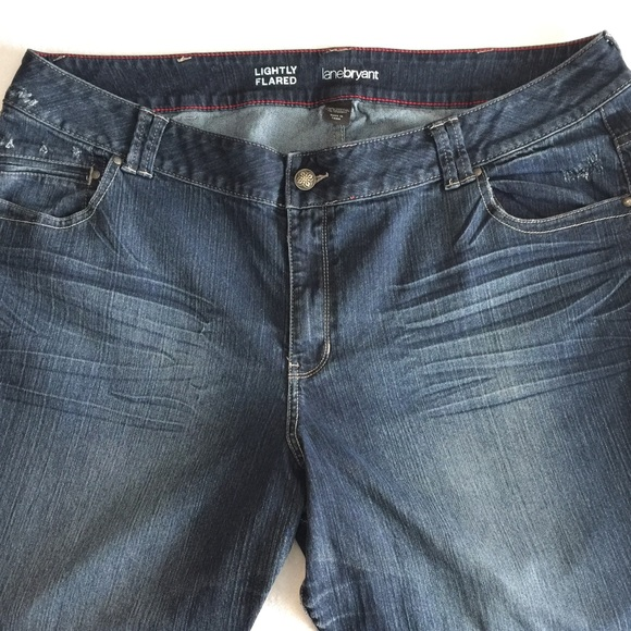 cd9271fdc40 Lane Bryant Denim - Lane Bryant lightly flared whisker washed jeans-26