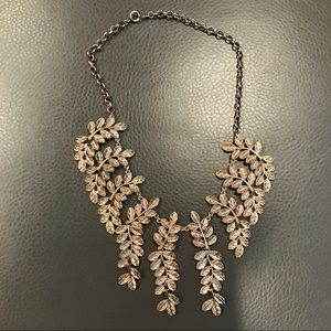 Antique Gold Leaf statement Necklace