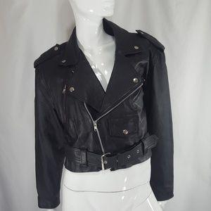 Vintage Leather MOTO grundge jacket Medium