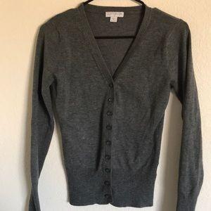 Gray Knit Cardigan