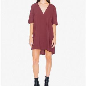 American Apparel crepe v-neck dress