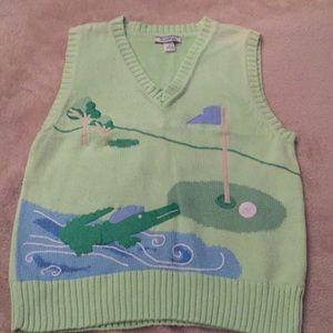 Boys Hartstrings Golf Course Sweater Vest Sz 7