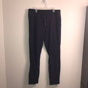 NWOT Stretch Nylon Joggers w/ ankle zip