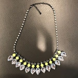 Silver, Crystal & Neon Statement Necklace