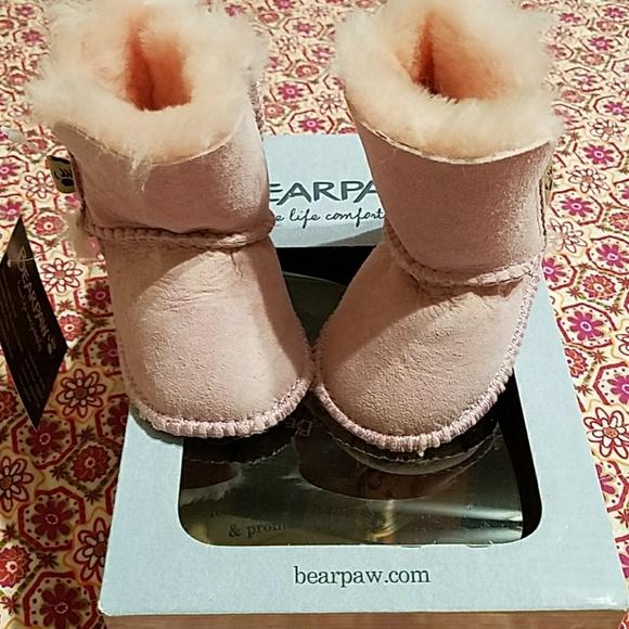 Bear Paw Pink Baby Boots | Poshmark