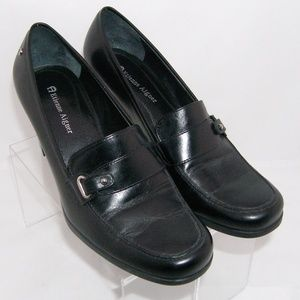 Etienne Aigner 'Tartan' leather buckle loafers 7M