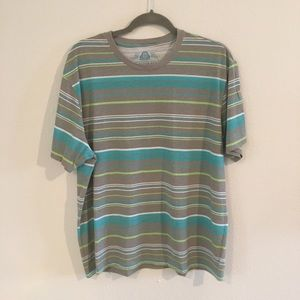 Men's striped t shirt - xlarge