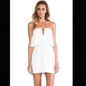 BCBG Maxazria White Strapless Dress 8
