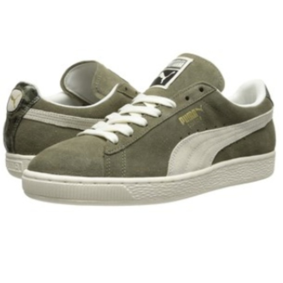 Puma Suede NC Womens Sneakers Olive Green