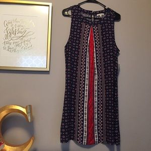 • NWT navy blue and red dress •