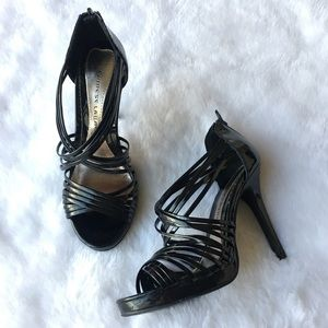 Chinese Laundry Strappy Black Patent Heels 8