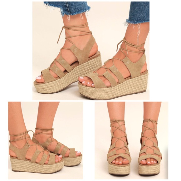 7a5d00d9595 Steve Madden Brayla Suede Leather Espadrille Wedge.  M 5a1206e46802780d5e098ee9