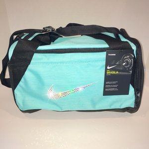 Bling Swarovski Crystal Nike Brasilia Duffel Bag