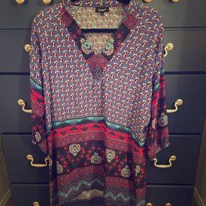 Tolani Silk Printed Tunic, Small