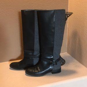 Black and gray Zara Basic boots size 38