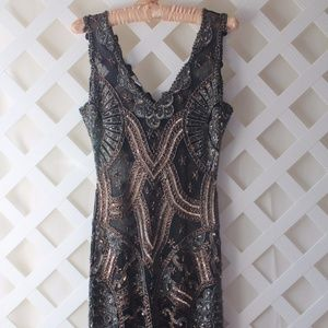 Ladies Hand Beaded 1920's Flapper Dress Size Small