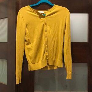 LOFT mustard cardigan size medium
