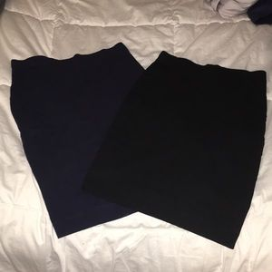 (2) H&M pencil skirts