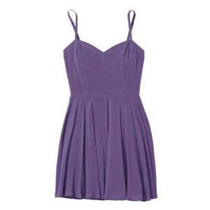 Aritzia Talula Lipinski purple skater slip dress