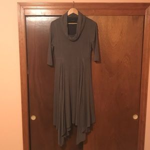 Signature By Robbie Bee Cowl Neck Dress