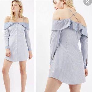 [Topshop] Bardot Stripe Shirt Dress