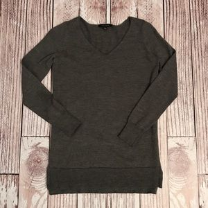 Ann Taylor Dark Gray Sweater Tunic