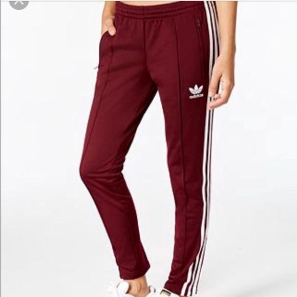 8e2fe506176c Maroon Adidas Supergirl Track Pants