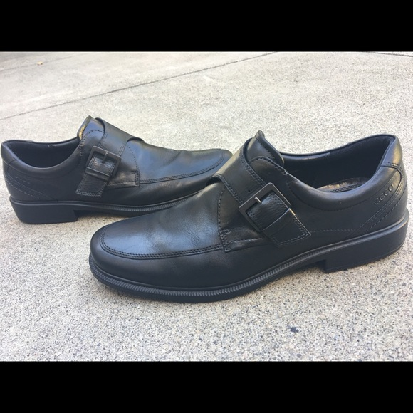 1a49158898 Ecco Mens Dress Shoes Black Size 46 Leather Buckle