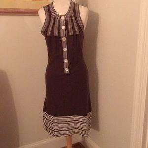 Soft chocolate brown knit dress.