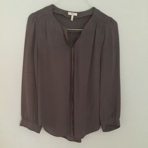 Joie Grey Silk Blouse