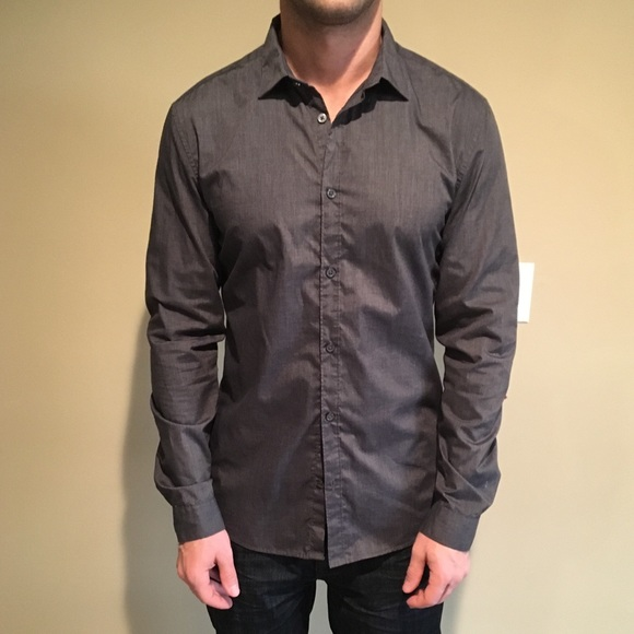50% off H&M Other - H&M dark gray button down shirt M from ! a's ...