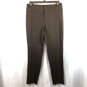 INC Brown Metallic Skinny Leg Stretch Pants, Sz 12