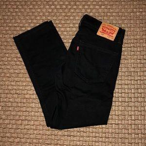 Levi's 508 slim taper stretch jeans. Black. 31x30