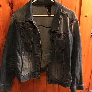 Cotton denim jacket EUC Lane Bryant