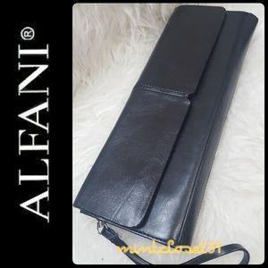 Alfani Black Leather Clutch