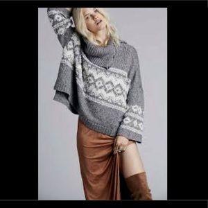 Free People Oversize Turtleneck PulloverSweater XS