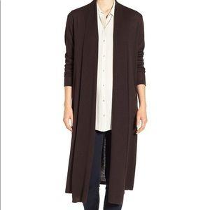 Eileen Fisher Long open cardigan size l