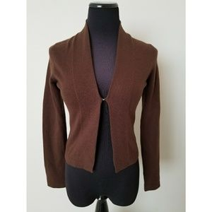 100% Cashmere Lilly Pulitzer Brown Cardigan