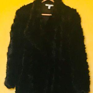 Faux Mink Pea Coat
