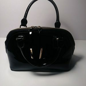 BcBg patent leather satchel