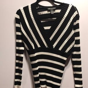 INC Black and white striped sweater, like new.