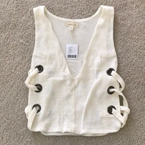 Urban Outfitters Tank Top side lace up detail