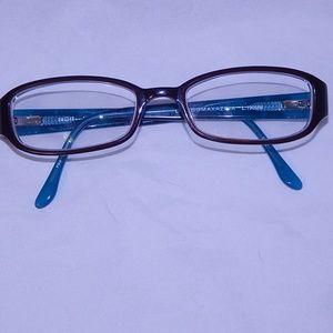 BCBGMAXAZRIA Bree Eyeglass Frames Blue/Brown 50 17