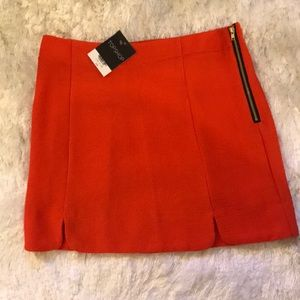 Orange TOPSHOP Mini skirt