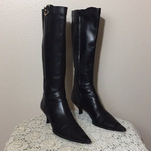 Bally Soft Smooth Leather Dress Knee High Boots🕶