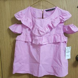 Zara ruffled sleeveless top