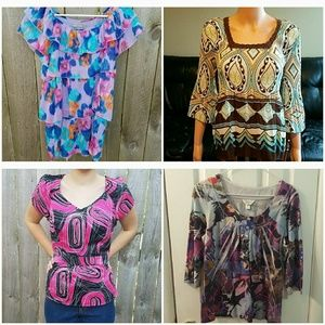 Bundle of 4 pretty blouses shirts tops