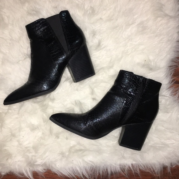 caf4c486fe6 Bar III Shoes | Macys Pointed Toe Ankle Boots Chunky Heel | Poshmark