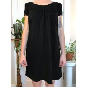 Mossimo Black Cotton Dress with Pockets